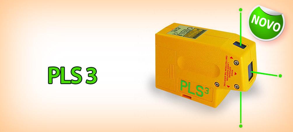 Nível a Laser PLS 3 Green Beam (Laser Verde)